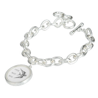 Personalized Dove Confirmation Charm Bracelet