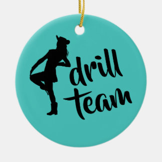 Personalized Drill Team Girl Christmas Ornament