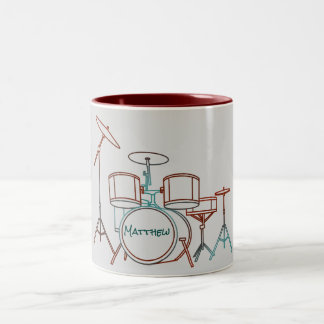 Personalized Drum Set Mug