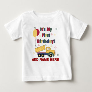 Personalized Dump Truck 1st Birthday Tshirt
