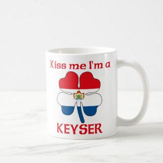 Personalized Dutch Kiss Me I'm Keyser Basic White Mug