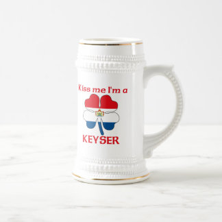 Personalized Dutch Kiss Me I'm Keyser Beer Steins
