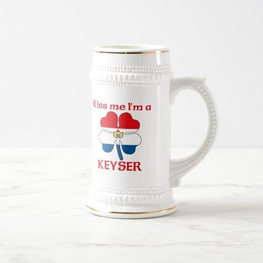Personalized Dutch Kiss Me I'm Keyser Coffee Mugs