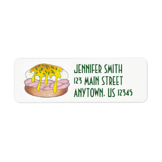 Personalized Eggs Benedict Food Foodie Cook Chef Return Address Label