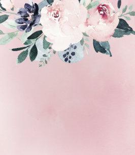 3cb9b359a853 Personalized elegant blush floral bride flip flops