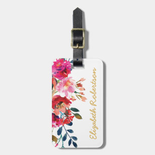 Luggage Tags Fantastic Butterfly Floral Travel Accessories Baggage Name Tags