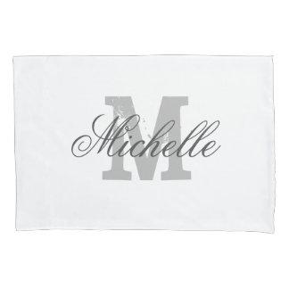 Personalized elegant monogram decor pillowcase