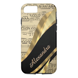 Personalized elegant music sheet iPhone 7 case