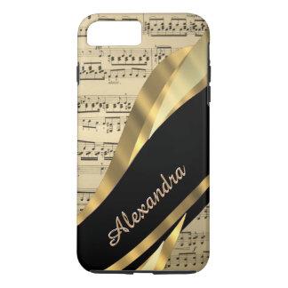 Personalized elegant music sheet iPhone 7 plus case