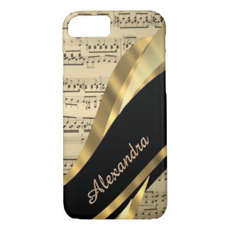 Personalized elegant music sheet iPhone 8/7 case