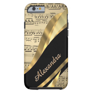 Personalized elegant music sheet tough iPhone 6 case