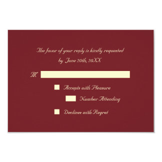 Personalized Elegant Party RSVP Invitation Card