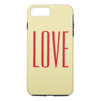 Personalized Elegant Red Love iPhone 7 Plus Case