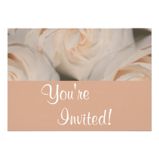 Personalized Elegant Roses Anniversary Party Personalized Invitations