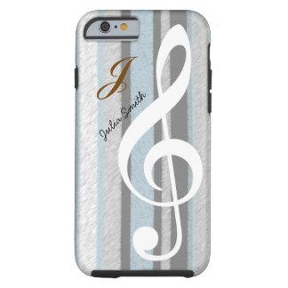 personalized elegant treble clef music tough iPhone 6 case