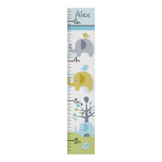 Personalized Elephant Love Growth Chart