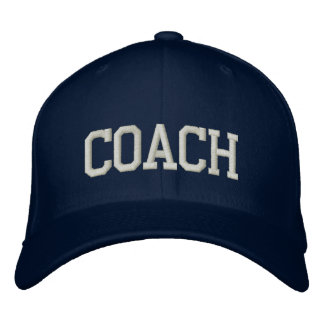 Personalized & Embroidered Coach Cap | Hat Baseball Cap