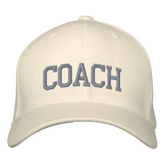 Personalized & Embroidered Coach Cap | Hat Embroidered Hats