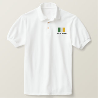Personalized Embroidered Irish Flag Polo Shirt
