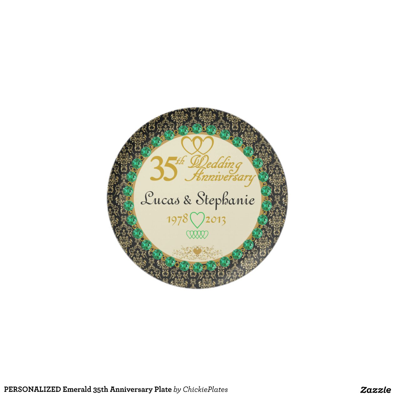 Emerald Wedding Anniversary Gifts: PERSONALIZED Emerald 35th Anniversary Plate