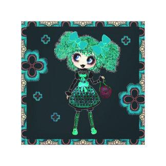 Personalized Emerald Lolita Kawaii PinkyP Gallery Wrap Canvas