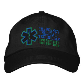 Personalized Emergency Medical Technician Embroidered Cap