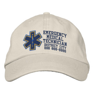 Personalized Emergency Medical Technician Embroidered Baseball Cap