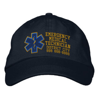Personalized Emergency Medical Technician Embroidered Hats