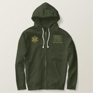 Personalized Emergency Medical Technician EMT Embroidered Hoodie