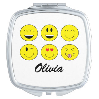 Personalized Emoji Compact Mirror