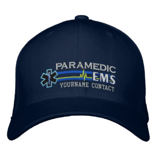 Personalized EMS Paramedic Star of Life Embroidered Baseball Caps