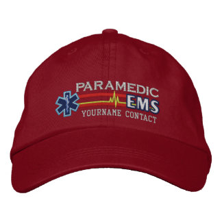 Personalized EMS Paramedic Star of Life Embroidered Hats