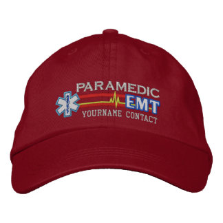 Personalized EMT Paramedic Star of Life Embroidered Hats
