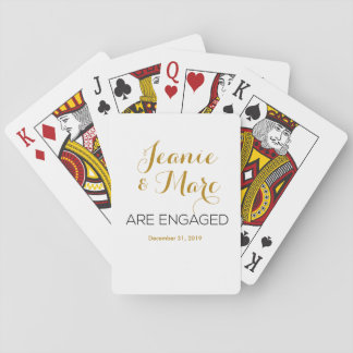 Personalized Engagement Playing Card Favors