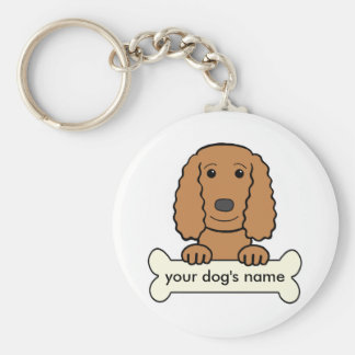 Personalized English Cocker Spaniel Key Ring