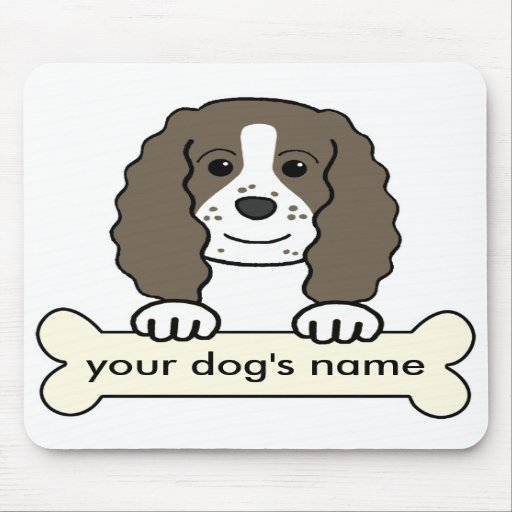Personalized English Springer Spaniel Mousepads