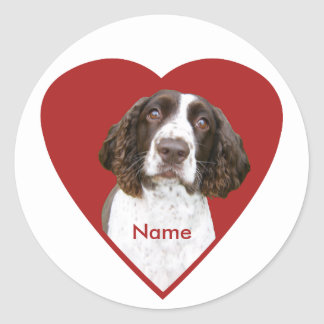 Personalized English Springer Spaniel Stickers