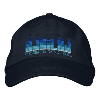 Personalized Equalizer Embroidery 4 the DJ in You! Embroidered Hat