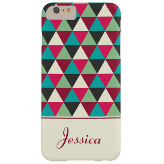 Personalized Ethnic Geometric Triangles Pattern Barely There iPhone 6 Plus Case