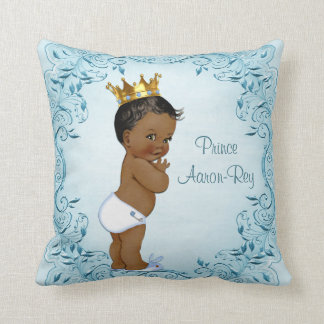 Personalized Ethnic Prince Blue Leaves Cushion