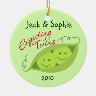 Personalized Expecting Twins Ornament