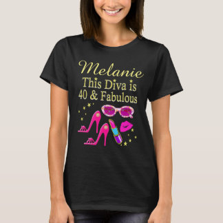 PERSONALIZED FABULOUS 40TH BIRTHDAY T SHIRT