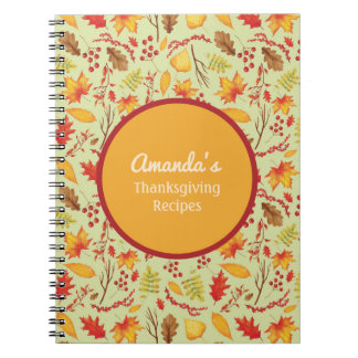 Personalized Fall / Autumn  Leaves Journal
