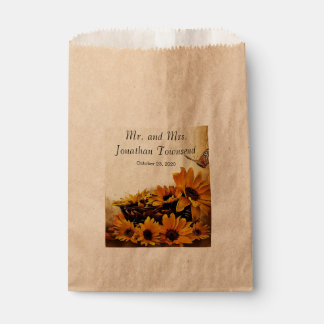 Personalized Fall Wedding Favor Bags Favour Bags