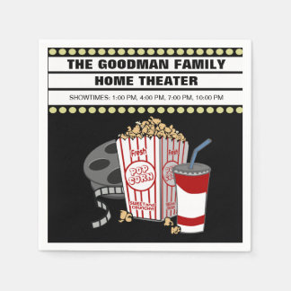 Personalized Family Home Movie Theater Customized Disposable Napkin