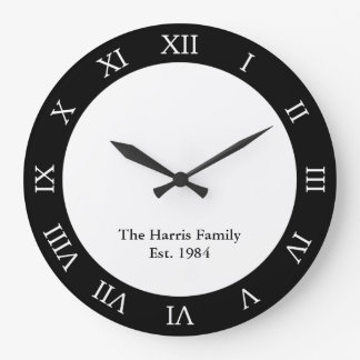 Personalized Family Large Clock