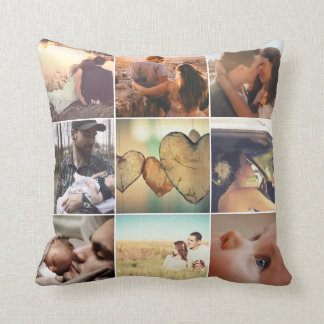Personalized family memories mosaic cushion