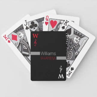 personalized family name | black bicycle playing cards