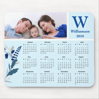 Personalized Family Photo 2018 Calendar Mouse Mat