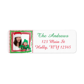 Personalized Family Photo Christmas Address Label